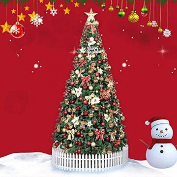 Weihnachtsdekorationen, Weihnachtsbaumdekorationen, künstliche hochwertige angelenkte fichte weihnachtsbäume, led leuchten verzierungen metallhalter urlaub dekorationen (Farbe: grün, Größe: 6 Fuß (180 - 5