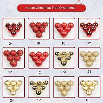 Weihnachtsdekorationen, Weihnachtsbaumdekorationen, künstliche hochwertige angelenkte fichte weihnachtsbäume, led leuchten verzierungen metallhalter urlaub dekorationen (Farbe: grün, Größe: 6 Fuß (180 - 6