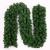 Weihnachtsgirlande mit Beleuchtung, Treer Tannengirlande Batterie Remote 2 Modus Lichterkette Weihnachten Dekoration2.7 Meter für Innen und Außen Verwendbar (DIY grün,2.7M) - 2