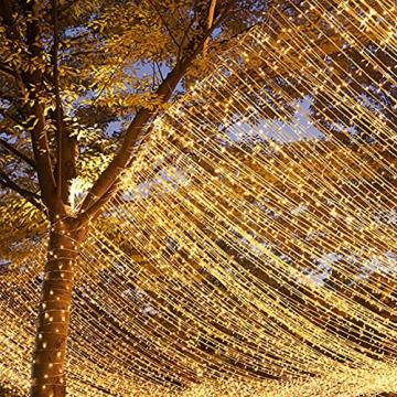 YOFIG Lichterkette Außen, 25M 1000 Led Lichterkette WeiLhnachtsbaum, Ideal Weihnachtsbeleuchtung Außen und Lichterkette Innen für Weihnachtsdeko, Lichterketten für innen und Weihnachtsbaumbeleuchtung - 4