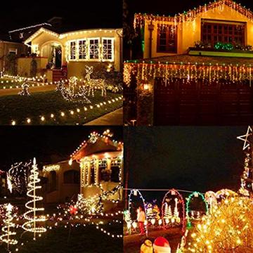 YOFIG Lichterkette Außen, 25M 1000 Led Lichterkette WeiLhnachtsbaum, Ideal Weihnachtsbeleuchtung Außen und Lichterkette Innen für Weihnachtsdeko, Lichterketten für innen und Weihnachtsbaumbeleuchtung - 5
