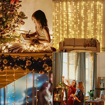 YOFIG Lichterkette Außen, 25M 1000 Led Lichterkette WeiLhnachtsbaum, Ideal Weihnachtsbeleuchtung Außen und Lichterkette Innen für Weihnachtsdeko, Lichterketten für innen und Weihnachtsbaumbeleuchtung - 6