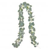 YQing Eukalyptus Girlande Künstlich Pflanze, Eukalyptus Blätter Deko Girlande Hochzeit Eukalyptus Kranz Kunstpflanze Urlaub Hochzeit Home Dekoration Zubehör - 1