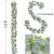 YQing Eukalyptus Girlande Künstlich Pflanze, Eukalyptus Blätter Deko Girlande Hochzeit Eukalyptus Kranz Kunstpflanze Urlaub Hochzeit Home Dekoration Zubehör - 4