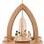 1-stöckige Weihnachtspyramide Engel - Natur - 26 cm - 100% Erzgebirge Pyramide - 1