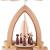1-stöckige Weihnachtspyramide Kurrende - Natur - 26 cm - 100% Erzgebirge Pyramide - 1