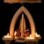1-stöckige Weihnachtspyramide Kurrende - Natur - 26 cm - 100% Erzgebirge Pyramide - 4