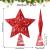 10 Zoll Glitzer Weihnachtsbaum Spitze Hohl Weihnachten Stern Baum Krone für Weihnachten Schmuck und Weihnachten Dekoration (Rot) - 3