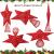 10 Zoll Glitzer Weihnachtsbaum Spitze Hohl Weihnachten Stern Baum Krone für Weihnachten Schmuck und Weihnachten Dekoration (Rot) - 4