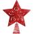 10 Zoll Glitzer Weihnachtsbaum Spitze Hohl Weihnachten Stern Baum Krone für Weihnachten Schmuck und Weihnachten Dekoration (Rot) - 1