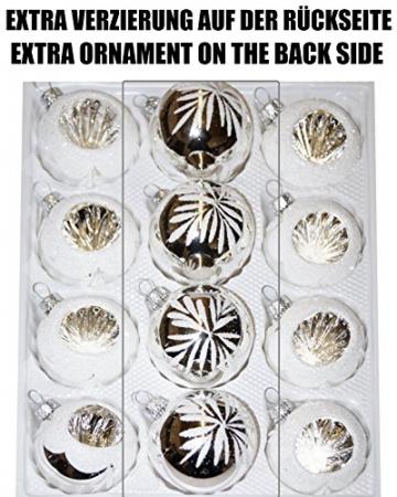 12 TLG. Glas-Weihnachtskugeln Set in Hochglanz Vintage Türkis Christbaumkugeln - Weihnachtsschmuck-Christbaumschmuck-Reflektorkugeln-Reflexkugeln-Reflector Ball - 2