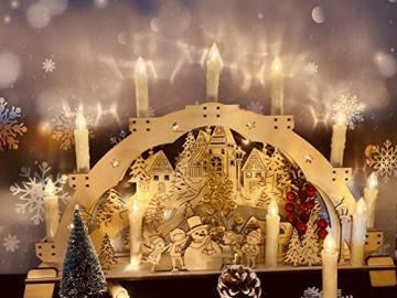 20 Stück LED Kerzen mit Fernbedienung Timer IP64 Dimmbar Warmweiß Weihnachtskerzen Lichterkette, Flackern Christbaumkerzen Kabellos für Weihnachtsbaum Hochzeit Geburtstags Deko(Mit 22 Batterien) - 2