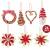 26-teiliges Weihnachtsanhänger aus Stroh - Handgemacht Gemischter Stroh Weihnachtsbaumschmuck aus natürlichem Material, Stroh Christbaum Anhänger Weihnachtsanhänger in verschiedenen Varianten - 2