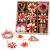 26-teiliges Weihnachtsanhänger aus Stroh - Handgemacht Gemischter Stroh Weihnachtsbaumschmuck aus natürlichem Material, Stroh Christbaum Anhänger Weihnachtsanhänger in verschiedenen Varianten - 1