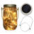 2x LED Solarglas - LED Solar Einwegglas aus Echtglas mit 20 LEDs warmweiß inkl. Akku - 2 Gläser im Set Gartenlampe Solarlampe Solar-Laterne (2x Solarglas) - 2