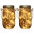 2x LED Solarglas - LED Solar Einwegglas aus Echtglas mit 20 LEDs warmweiß inkl. Akku - 2 Gläser im Set Gartenlampe Solarlampe Solar-Laterne (2x Solarglas) - 1