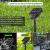 [3 Stücke] Solar Lichterkette Aussen, 10MX3 300 LED Outdoor Solar Lichterkette Außen Wetterfest 8 Modi Wasserdicht Solarlichterkette Größeren Lampenperlen für Balkon Garten Party Hochzeit Deko - 2