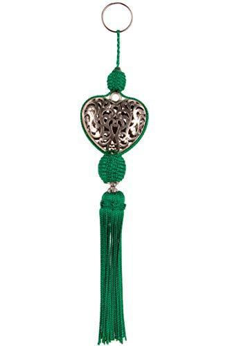 3er Set Orientalische Schlüsselanhänger 22cm (3)   Marokkanische Christbaumschmuck als Dankeschön Geschenke   Quasten mit Schlüsselring als Taschenanhänger Deko Anhänger für Auto Handy Rucksack - 4