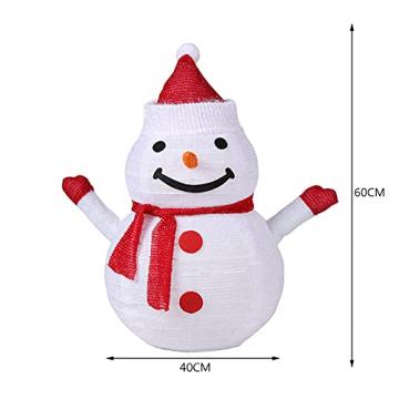 40 LED Weihnachtsmann Schneemann Laterne Stabil Weihnachten Außenlaterne IP65 Wasserdicht Weihnachtsbeleuchtung Outdoor für Außendekoration Weihnachtsgartens (Ohne Akku) - 5