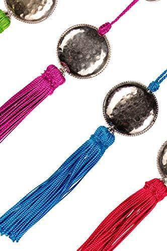 4er Set Orientalische Schlüsselanhänger 18cm (1) | Marokkanische Christbaumschmuck als Dankeschön Geschenke | Quasten mit Schlüsselring als Taschenanhänger Deko Anhänger für Auto Handy Rucksack - 2