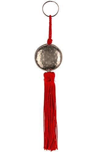 4er Set Orientalische Schlüsselanhänger 18cm (1) | Marokkanische Christbaumschmuck als Dankeschön Geschenke | Quasten mit Schlüsselring als Taschenanhänger Deko Anhänger für Auto Handy Rucksack - 4