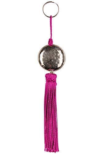 4er Set Orientalische Schlüsselanhänger 18cm (1) | Marokkanische Christbaumschmuck als Dankeschön Geschenke | Quasten mit Schlüsselring als Taschenanhänger Deko Anhänger für Auto Handy Rucksack - 5