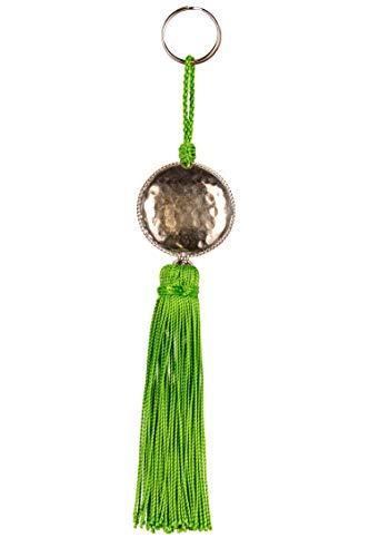 4er Set Orientalische Schlüsselanhänger 18cm (1) | Marokkanische Christbaumschmuck als Dankeschön Geschenke | Quasten mit Schlüsselring als Taschenanhänger Deko Anhänger für Auto Handy Rucksack - 6