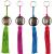 4er Set Orientalische Schlüsselanhänger 18cm (1) | Marokkanische Christbaumschmuck als Dankeschön Geschenke | Quasten mit Schlüsselring als Taschenanhänger Deko Anhänger für Auto Handy Rucksack - 1