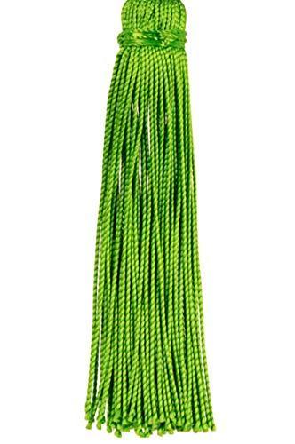 4er Set Orientalische Schlüsselanhänger 18cm (1) | Marokkanische Christbaumschmuck als Dankeschön Geschenke | Quasten mit Schlüsselring als Taschenanhänger Deko Anhänger für Auto Handy Rucksack - 8