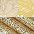 4er Set PVC Platzset, Abwaschbar Tischsets, rutschfeste Platzsets, Gold Tischsets, Platzdeckchen Gold für Weihnachten Party Küche Zuhause Speisetisch - 4