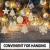 50 Stück Weihnachtsbaum Anhänger DIY Weihnachtsdekoration Holz Scheiben Holzsterne Holz Schneeflocke und Schneemann Runde Holzscheiben Holz Weihnachtsbaum Weihnachten Deko zum Bemalen und Verzieren - 3