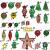 88PCS Weihnachtskugeln Ornamente für Weihnachtsbaum, zarte Weihnachtsdekoration Kugeln Bastelset Kunststoff weihnachtsbaumschmuck Kugeln Kit für Neujahrsfeier Hochzeitsfeier(Rot+Grün+Gold) - 2