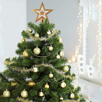 88PCS Weihnachtskugeln Ornamente für Weihnachtsbaum, zarte Weihnachtsdekoration Kugeln Bastelset Bruchsichere Kunststoff weihnachtsbaumschmuck Kugeln Kit für Neujahrsfeier Hochzeitsfeier (Gold+Weißen) - 7