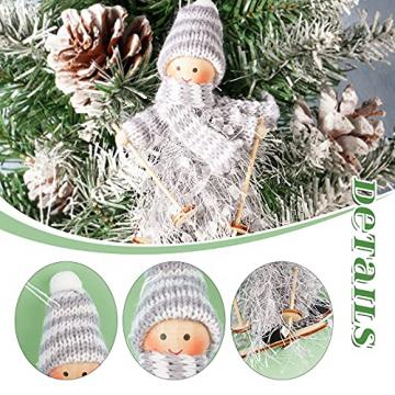 ABSDON 4PCS Weihnachtswichtel Figuren Weihnachtswichtel Weihnachten Deko Figur Wichtelfiguren Wichtel-Anhänger für den Weihnachtsbaum Weihnachten Weihnachtskranz Geschenken Dekoration - 3