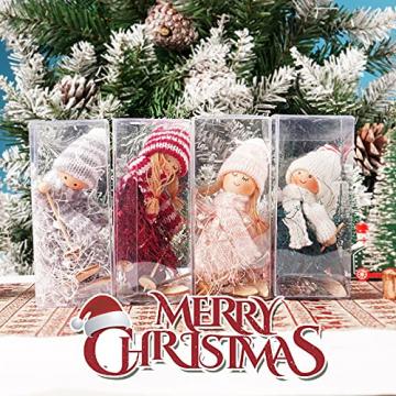 ABSDON 4PCS Weihnachtswichtel Figuren Weihnachtswichtel Weihnachten Deko Figur Wichtelfiguren Wichtel-Anhänger für den Weihnachtsbaum Weihnachten Weihnachtskranz Geschenken Dekoration - 4