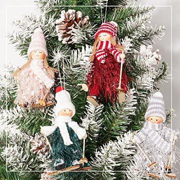 ABSDON 4PCS Weihnachtswichtel Figuren Weihnachtswichtel Weihnachten Deko Figur Wichtelfiguren Wichtel-Anhänger für den Weihnachtsbaum Weihnachten Weihnachtskranz Geschenken Dekoration - 6