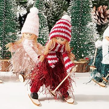 ABSDON 4PCS Weihnachtswichtel Figuren Weihnachtswichtel Weihnachten Deko Figur Wichtelfiguren Wichtel-Anhänger für den Weihnachtsbaum Weihnachten Weihnachtskranz Geschenken Dekoration - 7