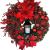 Adventkranz Weihnachtskranz - Weihnachtsmann Türkranz Adventskranz Schneemann Weihnachten Kranz Dekokranz Hängende Wand Verzierung Weihnachtskugelnkranz Fenster Dekoration Weihnachts Zubehör (#1) - 3