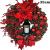 Adventkranz Weihnachtskranz - Weihnachtsmann Türkranz Adventskranz Schneemann Weihnachten Kranz Dekokranz Hängende Wand Verzierung Weihnachtskugelnkranz Fenster Dekoration Weihnachts Zubehör (#1) - 4