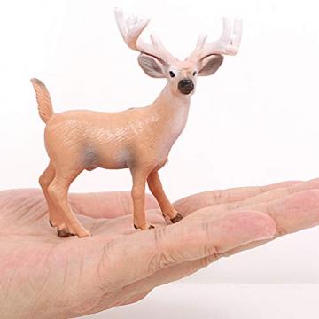 Amosfun 6 Stücke Mini Rentier Figur Elch Hirsch Figur Weihnachten Deko Figuren Miniaturfiguren Tierfigur Dekofigur Weihnachtsfigur Tischdeko Weihnachtsdeko Weihnachtsschmuck(zufällig) - 2