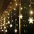 Antrect LED Lichterkette, LED Lichtervorhang Schneeflocke 96er LED Weihnachtsbeleuchtung Fenster mit 8 Modi, IP45 Wasserdicht für Weihnachten Party Fester Deko - 2