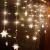Antrect LED Lichterkette, LED Lichtervorhang Schneeflocke 96er LED Weihnachtsbeleuchtung Fenster mit 8 Modi, IP45 Wasserdicht für Weihnachten Party Fester Deko - 3