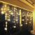 Antrect LED Lichterkette, LED Lichtervorhang Schneeflocke 96er LED Weihnachtsbeleuchtung Fenster mit 8 Modi, IP45 Wasserdicht für Weihnachten Party Fester Deko - 1