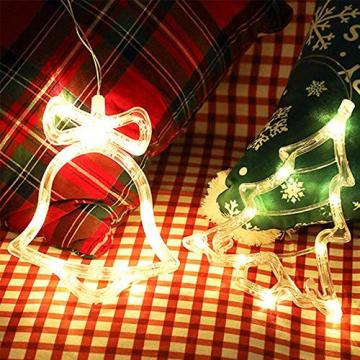 Anyingkai 6pcs Saugnapf Lichterkette,Saugnapf Lichterkette Fenster, Sauger Lichterkette,Saugnapf Lichterkette Weihnachten,Led Saugnapf Weihnachten,Saugnapf Led Deko - 4