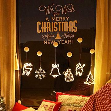 Anyingkai 6pcs Saugnapf Lichterkette,Saugnapf Lichterkette Fenster, Sauger Lichterkette,Saugnapf Lichterkette Weihnachten,Led Saugnapf Weihnachten,Saugnapf Led Deko - 1