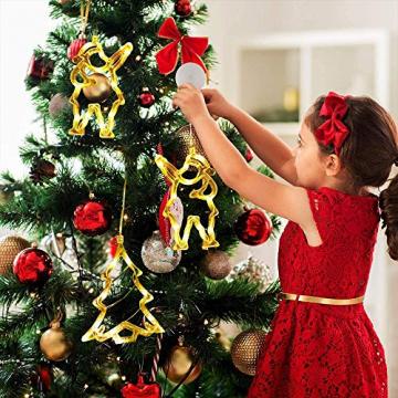Anyingkai 6pcs Saugnapf Lichterkette,Saugnapf Lichterkette Fenster, Sauger Lichterkette,Saugnapf Lichterkette Weihnachten,Led Saugnapf Weihnachten,Saugnapf Led Deko - 6