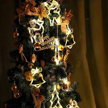 Anyingkai 6pcs Saugnapf Lichterkette,Saugnapf Lichterkette Fenster, Sauger Lichterkette,Saugnapf Lichterkette Weihnachten,Led Saugnapf Weihnachten,Saugnapf Led Deko - 7