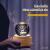 Aoweika Spieluhr, 3D Kristallkugel Spieluhr Mit Warmem Licht Projektionsfunktion, Rotierende K9 Kristallkugel Geschenke für Frauen, Geburtstagsgeschenk, Weihnachtengeschenk (Elch) - 3