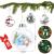Aurasky Klar Weihnachtskugeln, 16 pcs Weihnachtskugeln Baumschmuck, Befüllbare DIY Christbaumkugeln, Christbaumkugeln aus Klarem, Christbaumkugeln zum Befüllen als Christbaumschmuck - 2