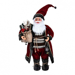azurely Robe Santa Claus Figur, 30 / 45cm Stehende Santa Claus Figur Puppe Weihnachten Desktop Ornament Kinder Geschenk Spielzeug für Home Mall Office - 1